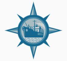 Passenger Cargo Ship Ocean Liner Compass T-Shirt