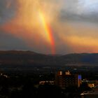 A rainbow over Kelowna by quester