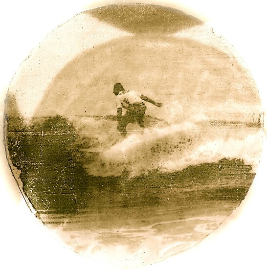 Surfer - Antiqued by Vikki-Rae Burns
