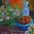 Peaches and Chinese vase by Bellarina74