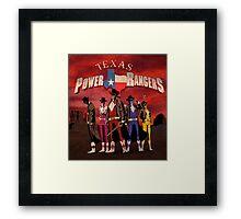 Power Texas Rangers Framed Print