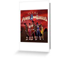 Power Texas Rangers Greeting Card