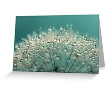 Cyan Sparkles Greeting Card