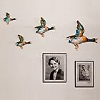Flying Ducks on Granddad's Wall by Heather Buckley