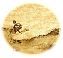 Sepia Surfer by Vikki-Rae Burns