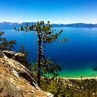 East Shore Lake Tahoe - Sand Harbor from Flume Trail by David Galson