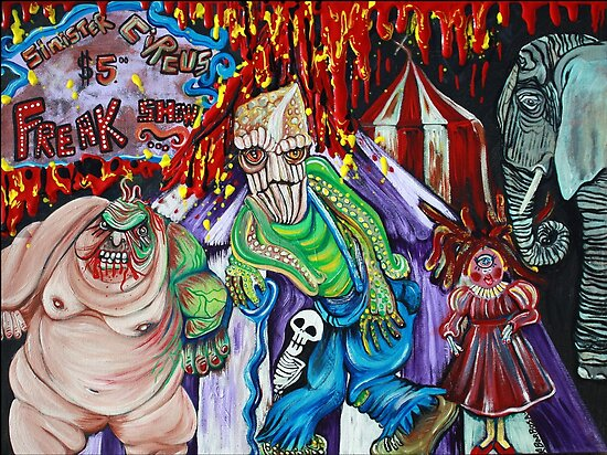 Freak Show - The Sinister Circus - Fantasy Art  by Laura Barbosa
