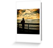 Fishing On A California Pier Greeting Card
