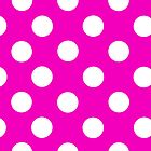 Hot Pink Polka Dots iPhone Case by giraffoarts