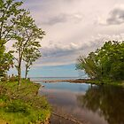 Lake Superior from the mouth of the Presque Isle River by JimGuy