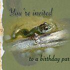 Birthday Party Invitation - Bullfrog by MotherNature