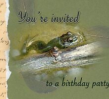 Birthday Party Invitation - Bullfrog by MotherNature