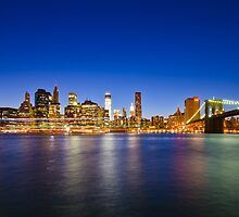New York Manhattan Cityscapes at Night by Daisy Yeung