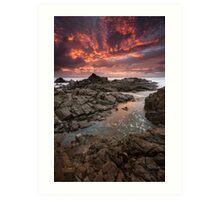 """Inferno"" ∞ Hastings Point, NSW - Australia Art Print"