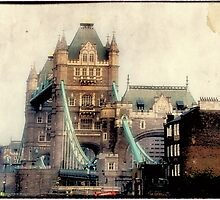 Antique View of the Tower Bridge, London by RichardsPC