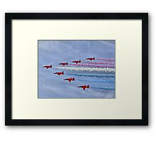 Ohhhh Look ! Red White And Blue Smoke !! Framed Print