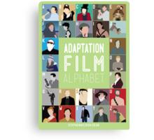 Adaptation Film Alphabet Canvas Print