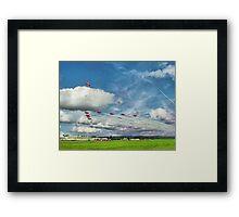 The Reds Break For Landing - Dunsfold 2008 Framed Print