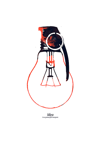 Idea is a powerful weapon by Budi Satria Kwan