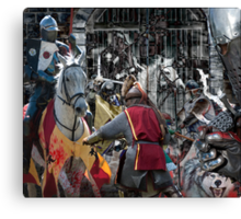 the heat of the battle Canvas Print