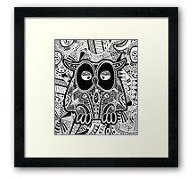 doodle owl Framed Print