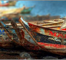 Tema Boats Aligned by Wayne King