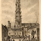 Historic engraving of the Market Place, Trowbridge, Wiltshire by Trowbridge  Museum