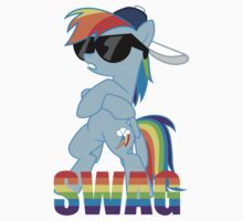 Rainbow Dash has ALL the SWAG by Everett Marcolini