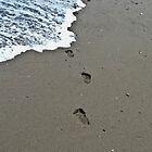 Footprint in the sand! by Noleen  Kavanagh