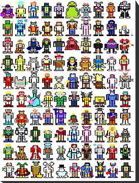 MS Paint 100 (and 2) Cartoon Characters by inesbot