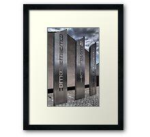 'Remember, Respect, Resolution' Framed Print