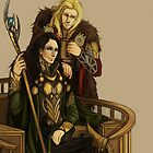 Thor and Loki by Komapsunida