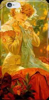 Alphonse Mucha Painting II by Heidi Hermes