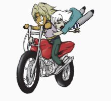 Marik and Bakura Motorcycle Ride by Kyrannyx