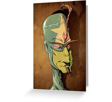 Portrait of a Mind Magician Greeting Card
