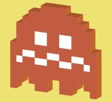 Orange Ghost - Pacman by techwiz