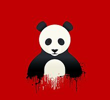 Panda Graffiti red by Mark Walker