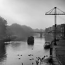 Fog's early river cruise by clickinhistory