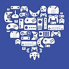 Controller Love (White on Blue) by pinksage