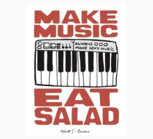 Make Music , Eat Salad by RCClothing