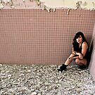 Shhhh, I heard someone! -Self Portrait- Abandoned Psychiactric Hospital, NY by MJD Photography  Portraits and Abandoned Ruins