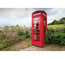 English Telephone Box Photographic Print