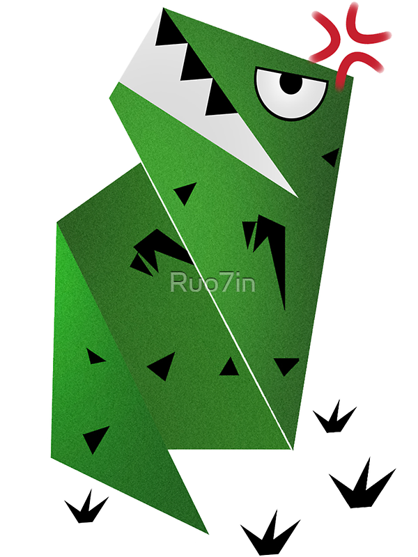 【2700+ views】Paper Dinosaur by Ruo7in
