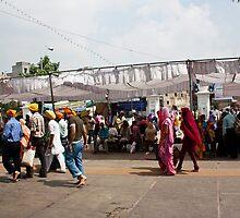 Devotees walking inside the Golden Temple by ashishagarwal74