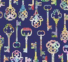 Rainbow Skeleton Keys Pattern by ElephantTrunk