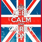 Keep Calm and Carry On - Union Jack by CalumCJL