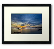 Sanna Bay Sunset Framed Print