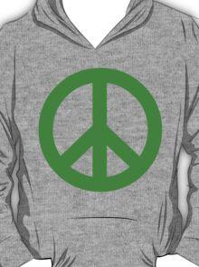 Peace - green. T-Shirt