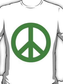 Peace - green. T-Shirt