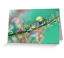 Smokey Rainbow Drops Greeting Card